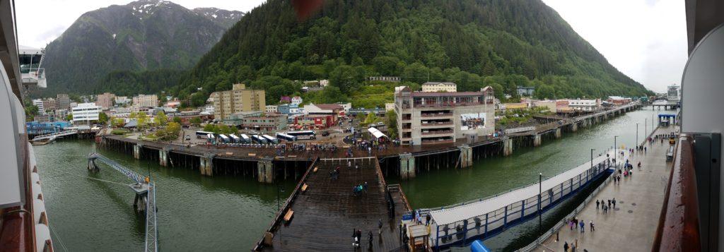 Arrival at Juneau Wharf