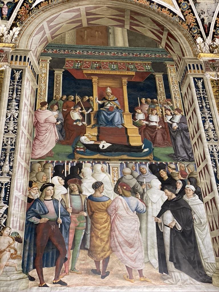 Sienna Cathedral del Santa Maria fresco 2