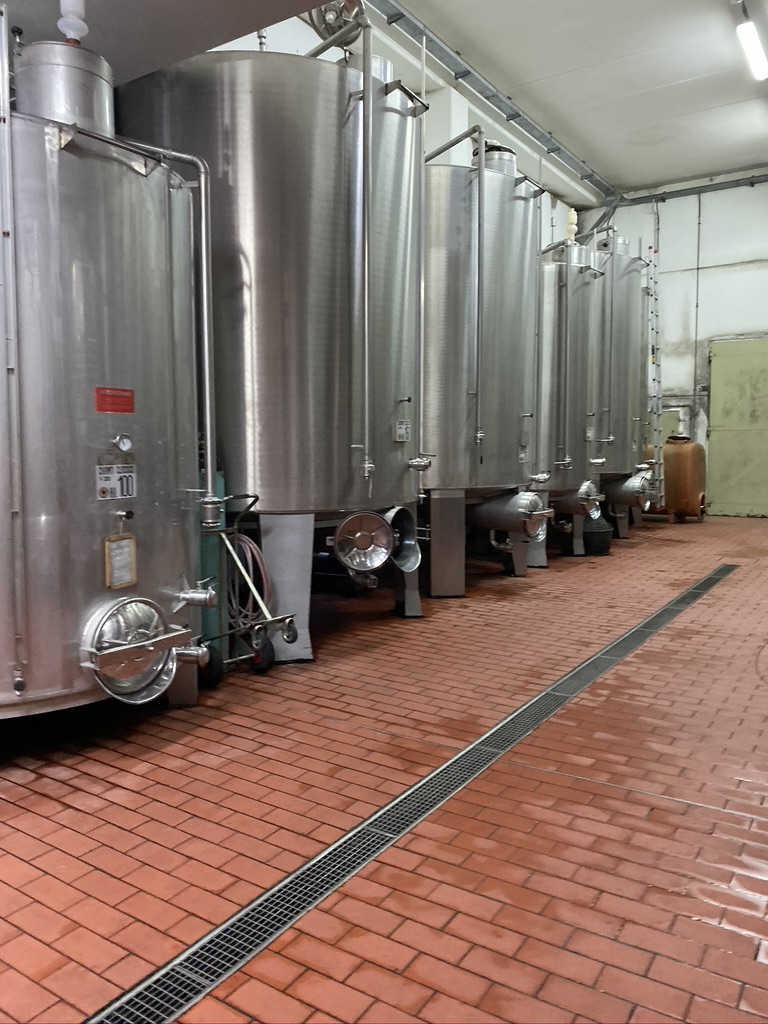 Casa Emma Vineyard SS Fermenting Tanks