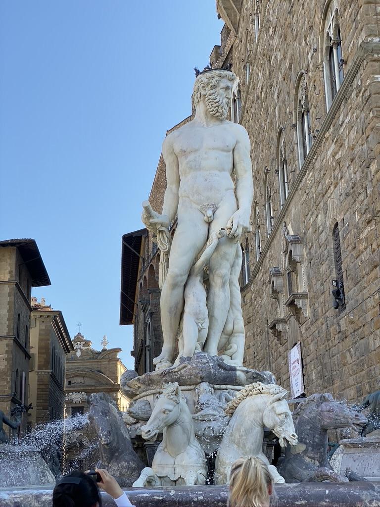 Florence Statue Fountain of Neptune Plazza della Signoria